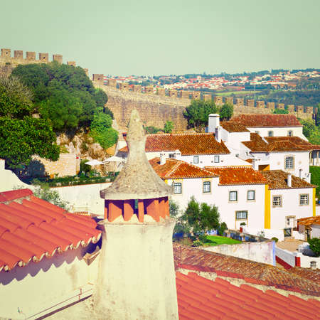 View to Historic Center City of Obidos in Portugal photo