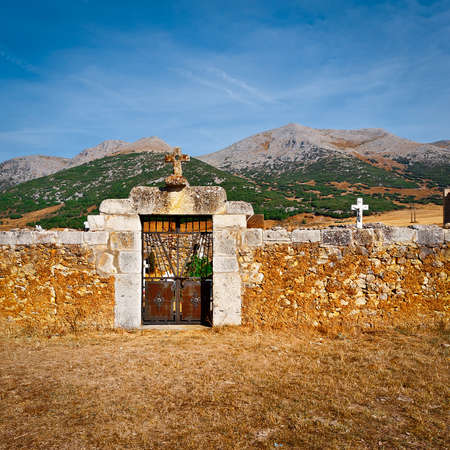 spanish village: Small Catholic Cemetery in the Spanish Village