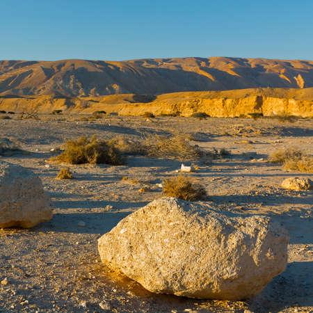 negev: Big Stones  in Negev Desert, Israel