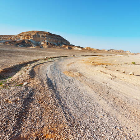 Road in the Judean Desert on the West Bank  photo