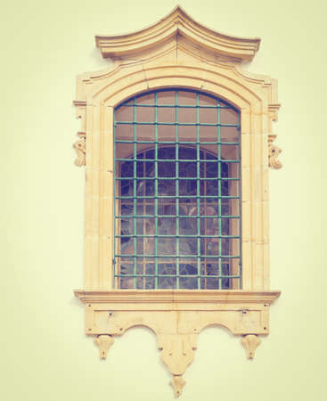 resplendence: Portuguese Window  in the Style of Manueline Stock Photo