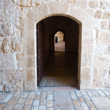 Narrow Alley in the Armenian Quarter of Jerusalem photo