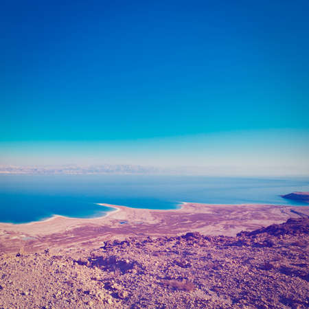 judean hills: View to the Dead Sea from the Judean Desert