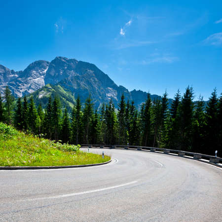 Panoramastrasse- Asphalt Road in the Bavarian Alps