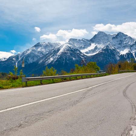 Saint Bernard Pass in the Italian Alps photo