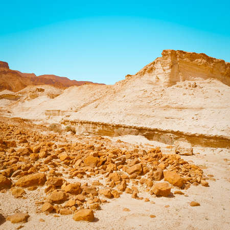 judean: Canyon in the Judean Desert on the West Bank  Stock Photo