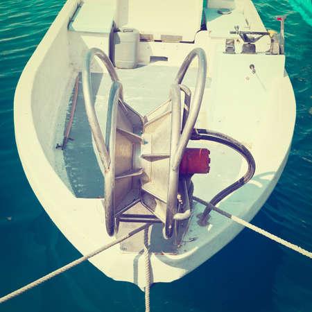 trawl: Trawl Winch on the Deck of Fishing Boat