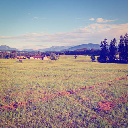 Farmhouse in the Bavarian Alps, Germany, Instagram Effect photo
