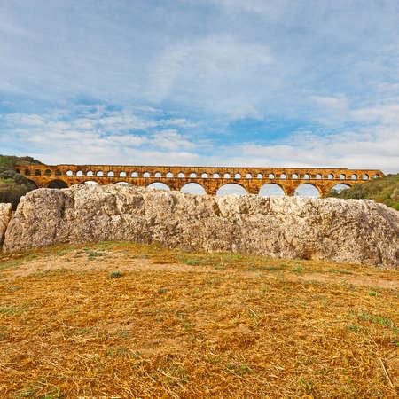 Ancient Roman Aqueduct Pont du Gard photo