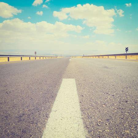 Empty Desert  Road in  Israel photo
