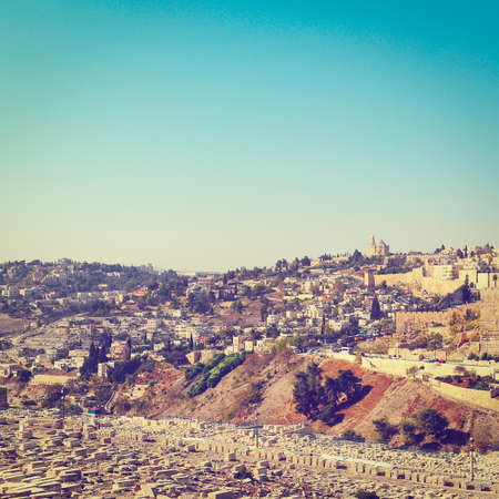 View from the Kidron Valley on the Walls of the Old City of Jerusalem. photo