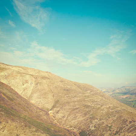 nature reserves of israel: Mountains on the Golan Heights, Israel. Stock Photo