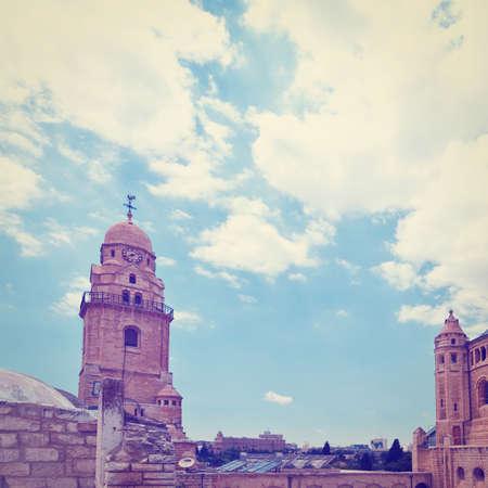 Bell-Tower on Mount Zion in Jerusalem. photo