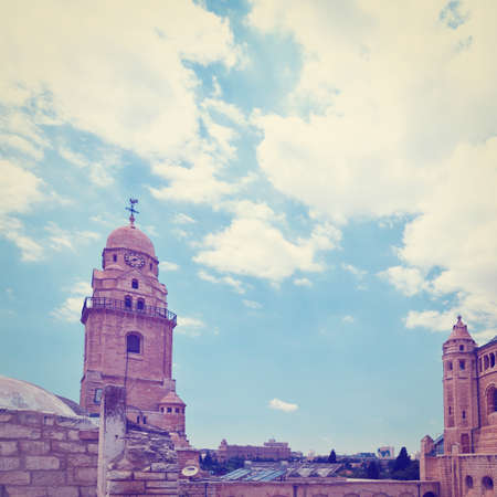 Bell-Tower on Mount Zion in Jerusalem. photo