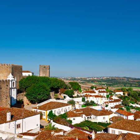 View to Historic Center City of Obidos, Portugal photo