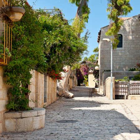 Area Of Old Restored Jerusalem on a Sunny Day photo