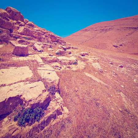 nature reserves of israel: Harsh Mountainous Terrain in the West Bank, Israel.