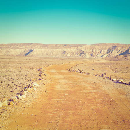 canyon negev: Dirt Road in the Negev Desert in Israel