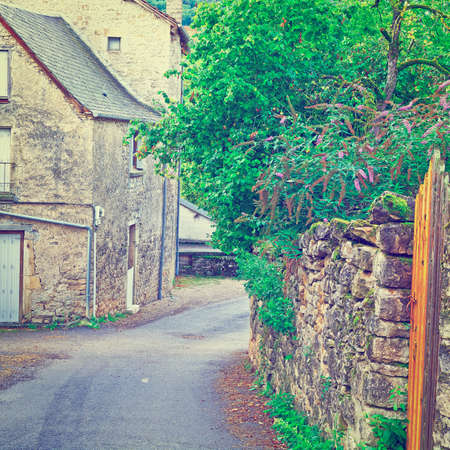 deserted: Deserted Street of the French City in Lemousin,
