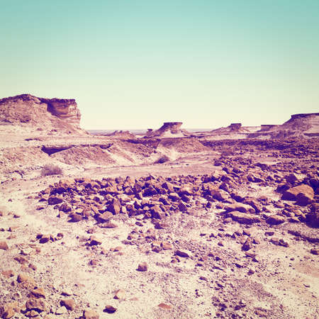 canyon negev: Stony Canyon of the Negev Desert in Israel,  Stock Photo