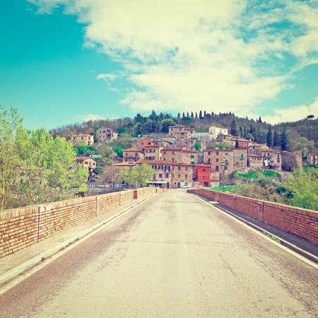 Vista Centro Storico della città di Todi in Italia