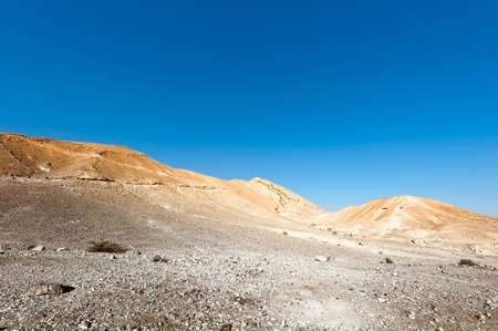 dirt road: Rocky Hills of the Negev Desert in Israel, Toned Picture