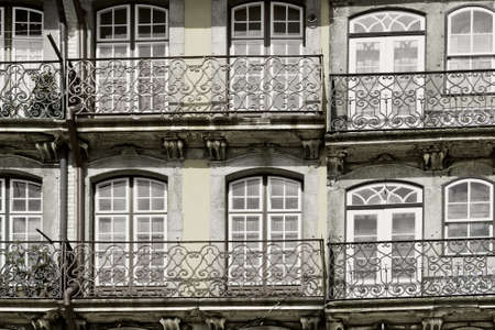 Facade of the Old  Portuguese House, Vintage Style Toned Picture