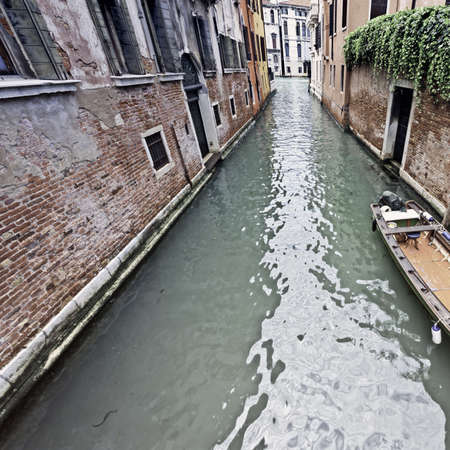 canal street: The Narrow Canal- the Street in Venice, Vintage Style Toned Picture