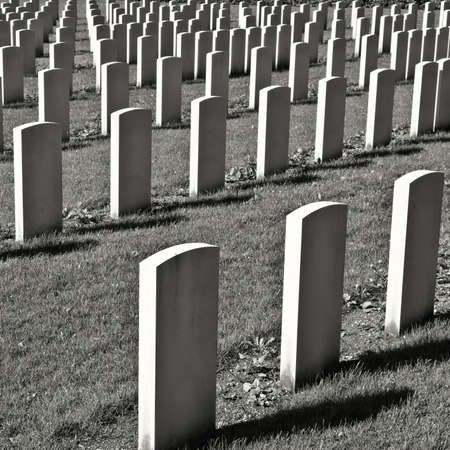 military cemetery: The British Military Cemetery in Germany, Retro Image Filtered Style