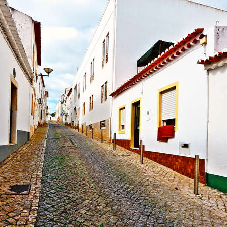 Narrow Street in the Medieval Portuguese City of Logos photo