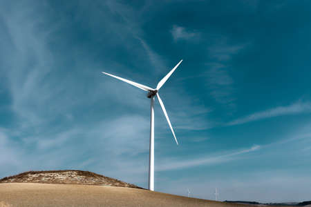green energy resources: Modern Wind Turbines Producing Energy in Spain