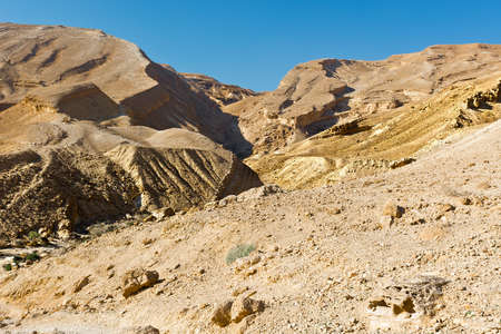 west bank: Canyon in the Israel Desert on the West Bank of the Jordan River