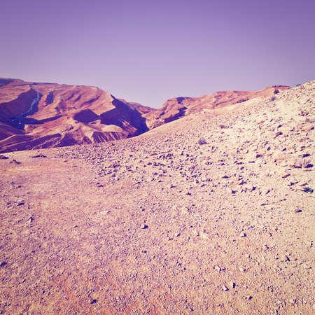 the desert: Rocky Hills of the Negev Desert in Israel