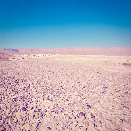 judean hills: Hills of the Judean Desert in Israel, Instagram Effect Stock Photo