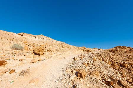 dirt: Rocky Hills of the Negev Desert in Israel