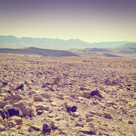 negev: Grand Crater in Negev Desert, Israel