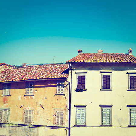 crumbling: Facades of Old Italian Houses with Crumbling Plaster