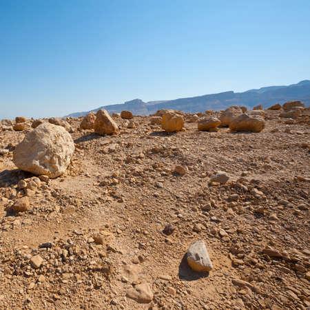 judean desert: View to the Dead Sea from the Judean Desert