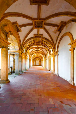 templar: Interior of the Templar Castle in the Portugal City of Tomar