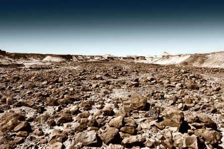 judean hills: Stone Desert on the West Bank of the Jordan River, Vintage Style Toned Picture