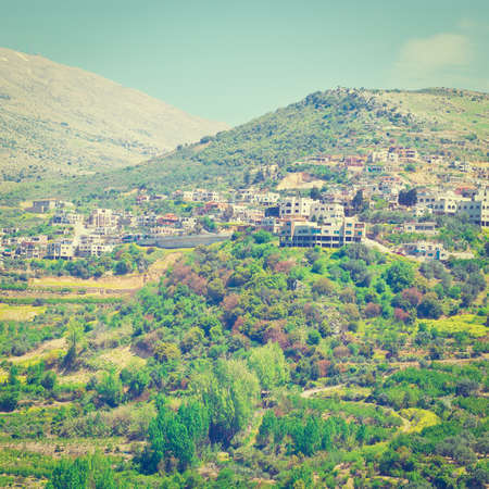 golan: View of the Druze Town on the Golan Heights