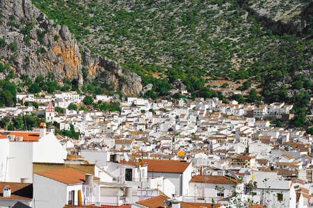 birds eye: Birds Eye View on the White Spanish City of Ubrique