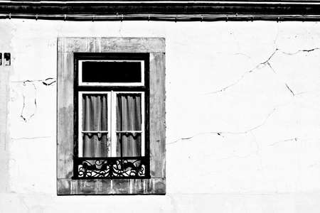 resplendence: Window of the Old Portugal House, Retro Image Filtered Style