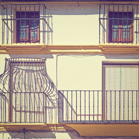 resplendence: Facade with Balcony of the Old Spain House