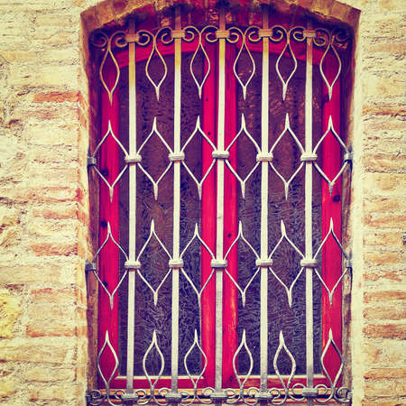 restored: Window on the Facade of the Restored Italian Home