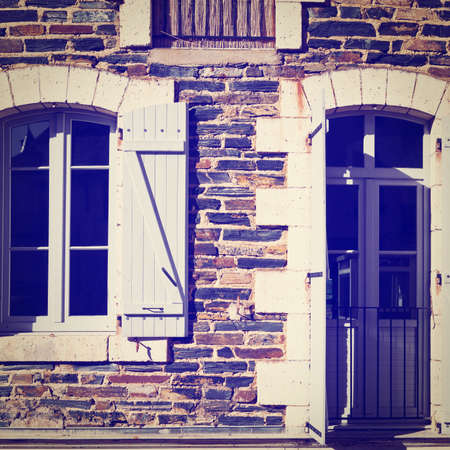 open windows: French Windows with Open Wooden Shutters
