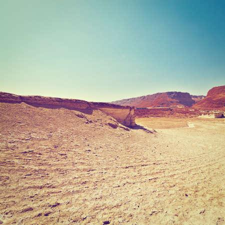 judean hills: Judean Desert on the West Bank of the Jordan River, Instagram Effect