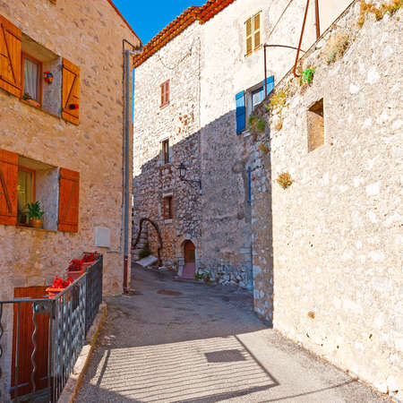 urban street: Deserted Street of the Medieval French City