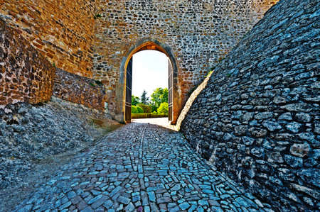 templar: Gate of the Templar Castle in the Portugal City of Tomar