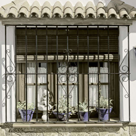 resplendence: The Renovated Facade of the Old Spain House, Vintage Style Toned Picture
